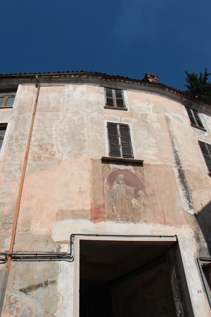 building monumental: historic building with frescoes and monumental walls