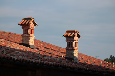 view of the chimney above the roof house