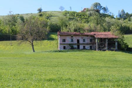 ancient Piedmontese farmhouse in the countryside Reklamní fotografie