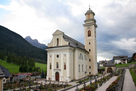 Church and cemetery of the Sesto  Stock Photo - 16487872