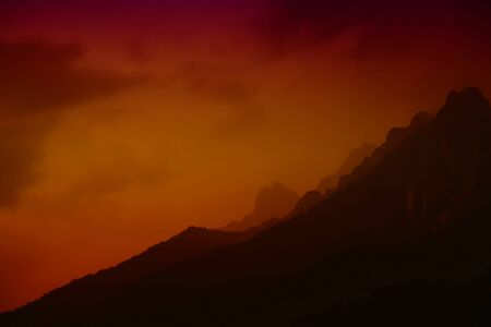 sunset in the Dolomites - Shout Tyrol, Italy Stock Photo - 16487869