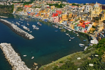Corricella - Procida, beautiful island in the mediterranean sea, naples - Italy photo