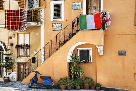 vespa piaggio: Vecchio stile italiano Archivio Fotografico