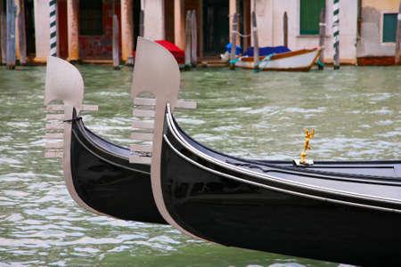 prow: Gondolas prow - Venice, Italy