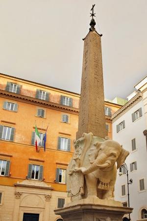 Obelisk of Santa Maria Minerva by Bernini in Rome, Italy 2 Stock Photo - 16570855