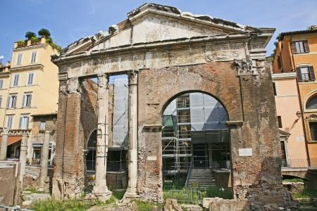 portico: Portico dOttavia - Rome Italy Stock Photo