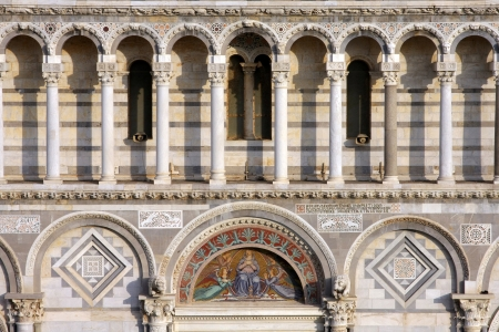 Detail of the cathedral of Pisa -Italy photo