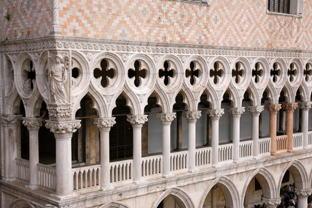 Palace Ducal - detail , Venice Italy photo
