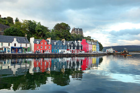 Mull: UK Western Scotland Isle of Mull Colorful town of Tobermory - capital of Mull, landscape Editorial
