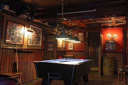 snooker hall: billiard room, in Scottish pub
