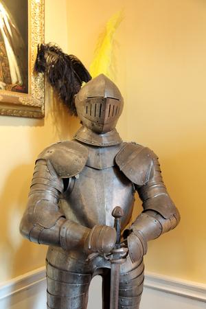 gun room: Knight s Armours INVERARAY - SEPTEMBER 9  Gun Room of Inveraray Castle  September 9  2013 in Inveraray  Knight s Armours