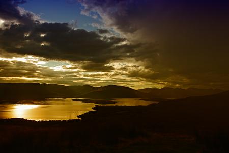 loch lomond: Conic Hill at sunset - Loch Lomond Stock Photo