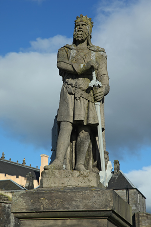 robert bruce: Statue of Robert the Bruce at Stirling castle Stock Photo