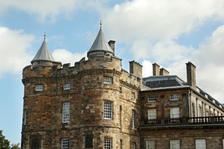 Edinburgh, Scotland - AUGUST 30  Holyrood palace on August 30, 2013 in Edinburgh  Holyrood Palace, the official residence of the Monarch of the United Kingdom in Edinburgh, Scotland Stock Photo - 24676367