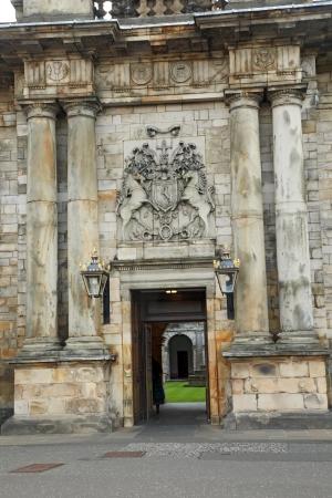 Edinburgh, Scotland - AUGUST 30  Holyrood palace on August 30, 2013 in Edinburgh  Holyrood Palace, the official residence of the Monarch of the United Kingdom in Edinburgh, Scotland Stock Photo - 24676368