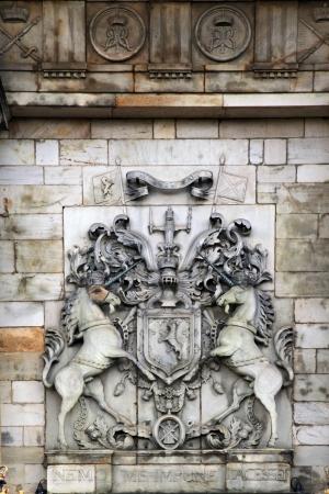 Edinburgh, Scotland - AUGUST 30  Holyrood palace on August 30, 2013 in Edinburgh  Holyrood Palace, the official residence of the Monarch of the United Kingdom in Edinburgh, Scotland Stock Photo - 24676369