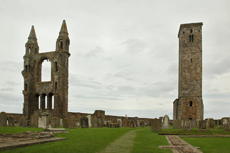 andrews: Ruin of St Andrews Cathedral in St Andrews Scotland