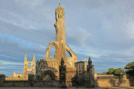 Ruin of St Andrews Cathedral in St Andrews Scotland photo
