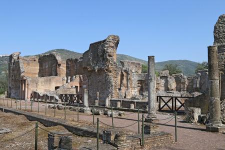 hadrian: Tivoli, Italy - April 21, 2014  Ancient ruins of Hadrian