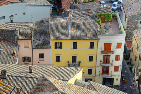 viterbo: BOLSENA, ITALY - JUNE 27, 2015:old typical street of the medieval town in the Bolsena,Viterbo - Lazio.