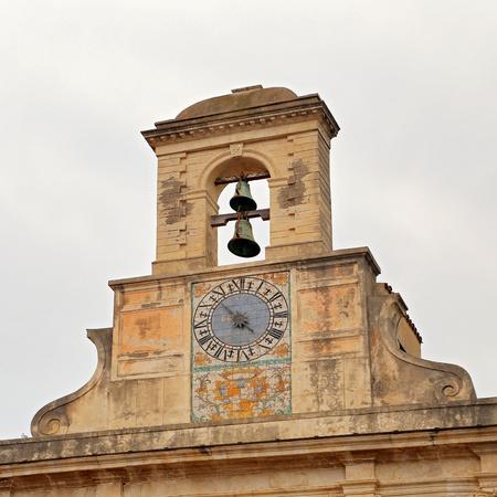 GAETA, ITALY- JUNE 25, 2016: Church of Santissima Annunziata, exterior fragment. Gaeta, Italy Editorial