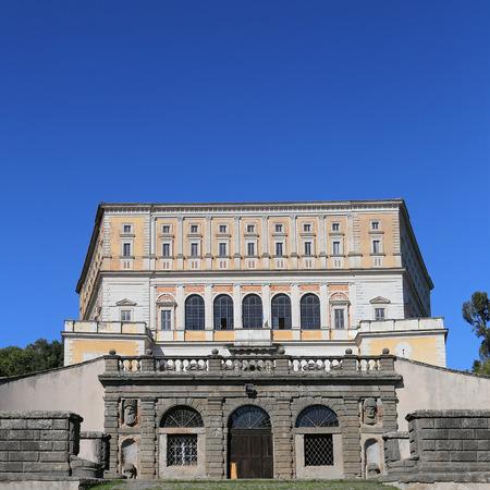 CAPRAROLA, ITALY - OCTOBER 16, 2016: A visit at Villa Farnese (in italian Palazzo Farnese), a massive Renaissance and Mannerist
