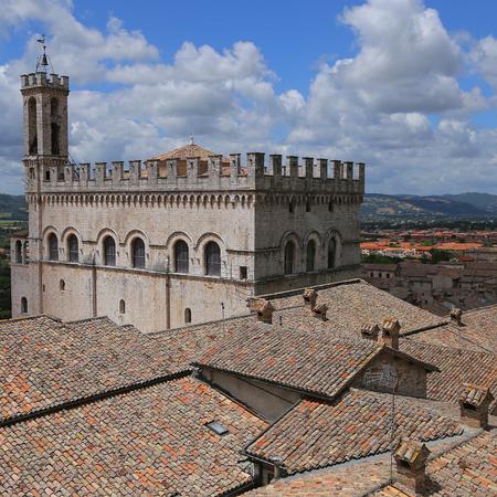 Wonderfull Consuls Palace in Gubbio. Umbria - Italy Editorial