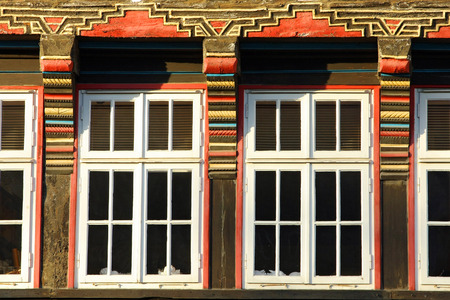 HAMELN, GERMANY - MARCH 07, 2009: Details of a house in the center of Hameln, in Germany