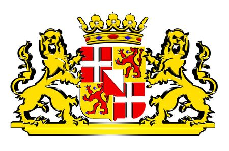 utrecht: Utrecht Province Coat of Arms, Netherlands.