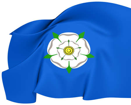 yorkshire: Flag of Yorkshire  Close Up     Stock Photo