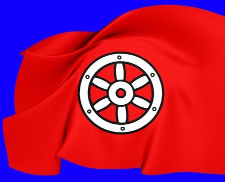 electorate: Electorate of Mainz Flag. Close Up. Stock Photo