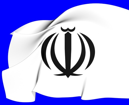 Iran Coat of Arms. Close Up.    photo