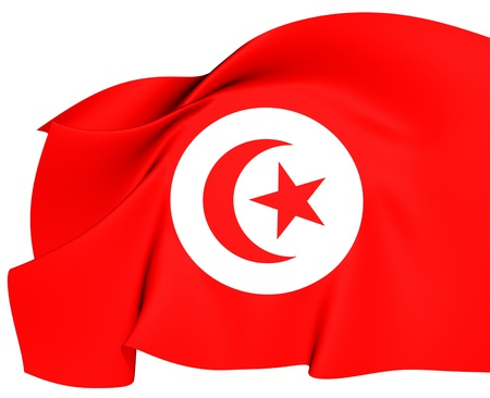 Flag of Tunisia. Close Up.    photo