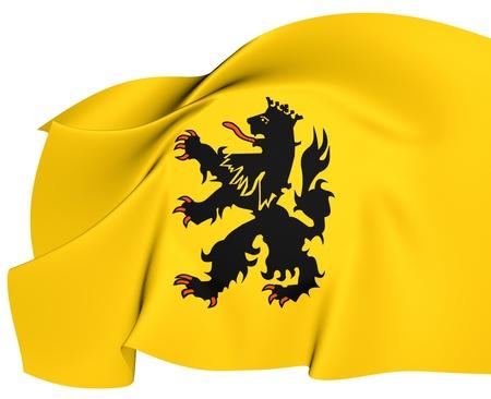 Vlag van Hulst, Nederland. Close Up.