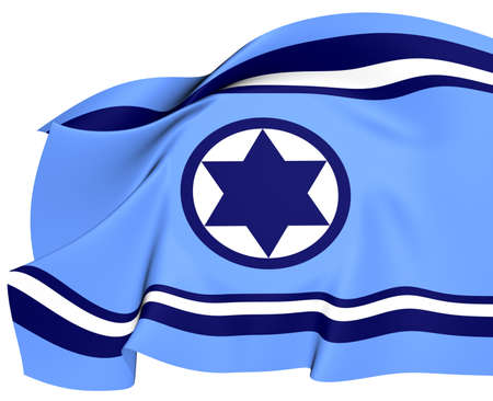 Israel Air Force Flag  Close Up     photo