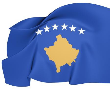 Flag of Kosovo  Close Up  photo