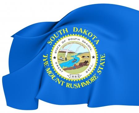 Flag of South Dakota, USA  Close Up Stock fotó - 19450630