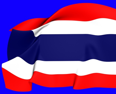 Flag of Thailand  Close Up     photo