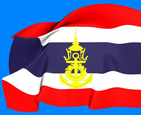 Thailand Naval Jack  Close Up     photo
