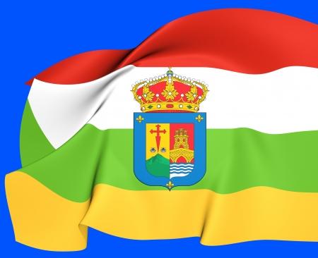 La ja Flag, Spain  Close Up  Stock Photo - 19450724
