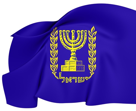 Emblem of Israel  Close Up  3D    photo