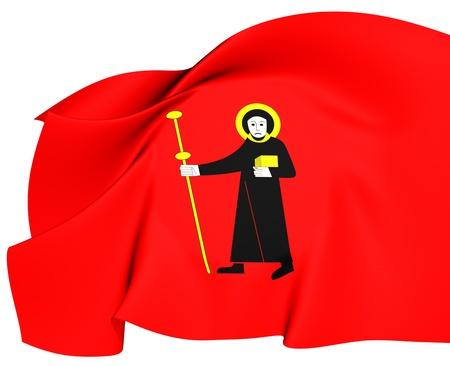 glarus: Flag of Glarus  Close Up  Stock Photo