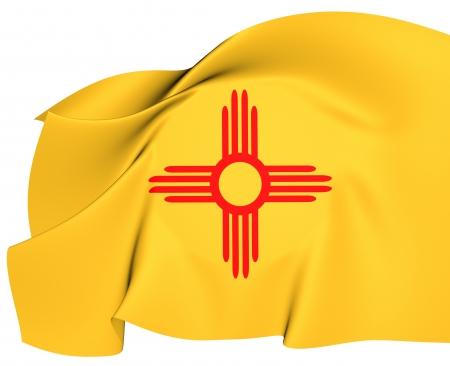 Flag of New Mexico, USA  Close Up    photo