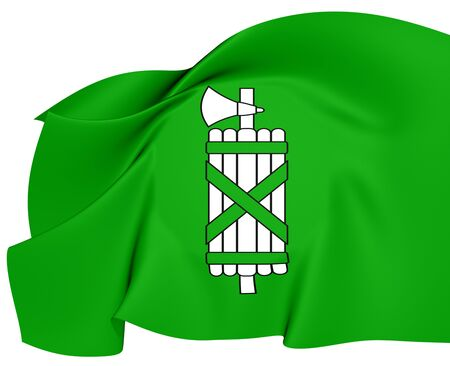 st  gallen: Bandera de St Gallen Close Up