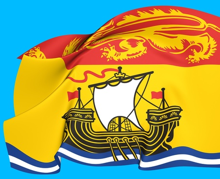 Flag of New Brunswick, Canada  Close Up  photo