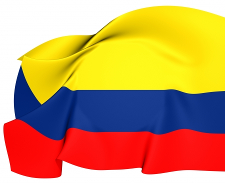 Bandera de Colombia. Close Up. photo