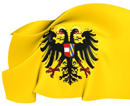 holy roman emperor: Holy Roman Empire Flag  1493-1556   Close Up     Stock Photo