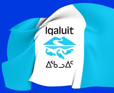 Flag of Iqaluit, Canada  Close Up  photo