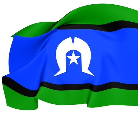 islanders: Torres Strait Islanders Flag  Close Up  Stock Photo