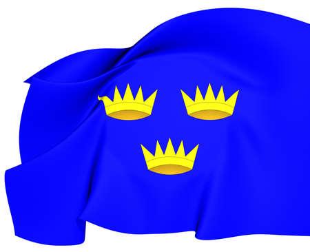 munster: Flag of Munster, Ireland  Close Up     Stock Photo